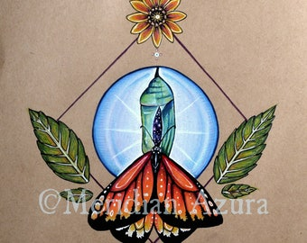 Monarch Butterfly Medicine/ Roots and Wings 8x10 print