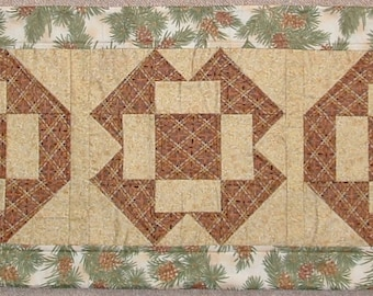 Unique Handmade Patchwork Heirloom Quilted Xmas Table Runner - XM1