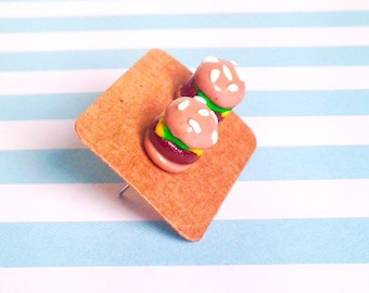 Cheeseburger earrings!