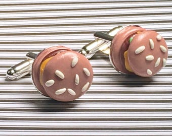 Cheeseburger cufflinks!