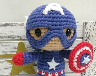 Captain America Amigurumi Marvel, The Avengers