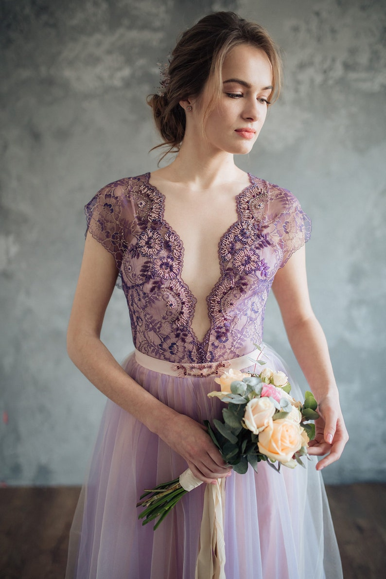 Lilac wedding dress  Serenity image 0