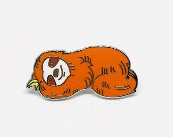 Cute Sloth Enamel Pin Badge | Sleeping Smiley Sloth | Novelty Gift Idea