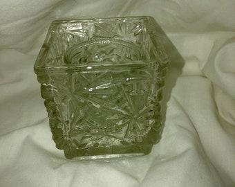 Vintage Crystal Avon Candle Holder