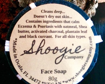 Facial Soaps: Charcoal, Rose & Aloe