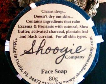 Facial Soaps: Charcoal, Rose & Aloe