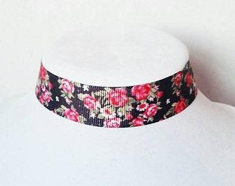 Flower Choker Ribbon Choker Boho Choker Hippie Choker Boho Necklace Hippie Necklace Wedding Choker Bridesmaid Choker Wedding Jewelry