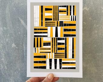 Mini Art Print A5 Art Print Printable Art Geometric Print Abstract Print Contemporary Print Illustration Tribal Style Print Gits for her