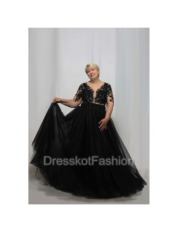 aebf972856 Black wedding dress Black lace wedding gown Weddng dress