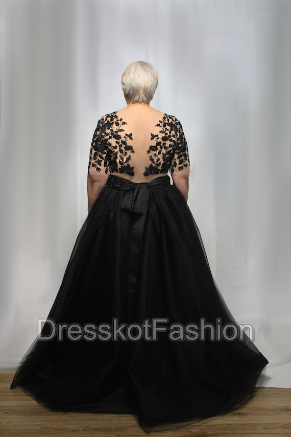Black Wedding Dress Black Lace Wedding Gown Weddng Dress Etsy