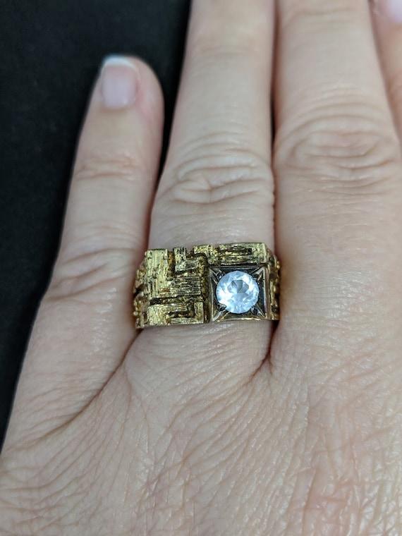 Joseph Esposito ESPO 18K HGE Guillouche Enamel Ring Size 6
