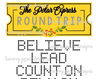 picture about Polar Express Ticket Printable titled Polar categorical ticket Etsy