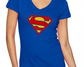 Supergirl Next Level Perfect Sporty V-Neck Tee