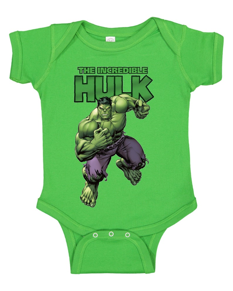 The Incredible Hulk Infant/'s Baby Rib Bodysuit CUSTOMIZATION AVAILABLE!!!