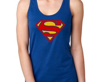 Supergirl Next Level Ideal Racerback Tank CUSTOMIZATION AVAILABLE!!!