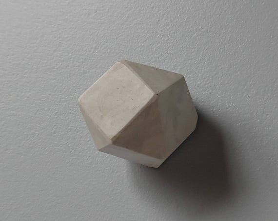 Faceted Concrete Knob
