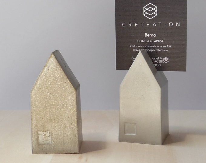 Cement House Shaped Place Card Holders