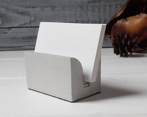 Minimalist Concrete Business Card Holder