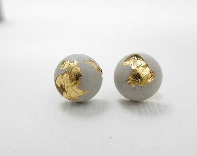 Cement Stud Earrings
