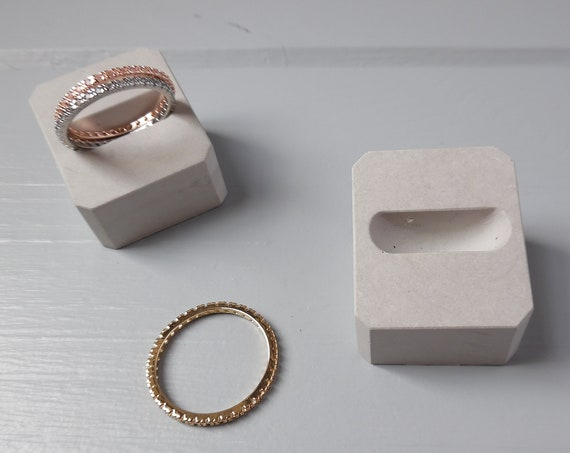 Concrete Wedding Band Holder