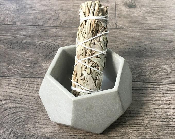 Cement Smudge stick holder
