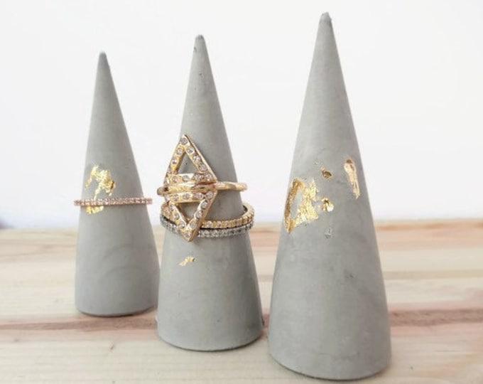 Gold Flake Concrete Ring Cone
