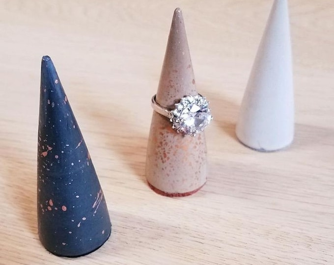 Gold Splatter - Concrete Ring Cone