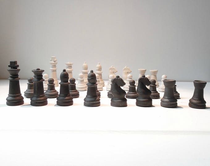 Full Size concrete chess pieces