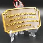 Main Street Entranceway Welcome Plaque Disneyland Inspired Sign Christmas Ornament ( Disney / Park Prop Inspired Replica )