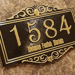 Personalized Haunted Mansion Themed Address Plaque w/ Welcome Foolish Mortals ( Disney Inspired Home Decor Prop Replica )