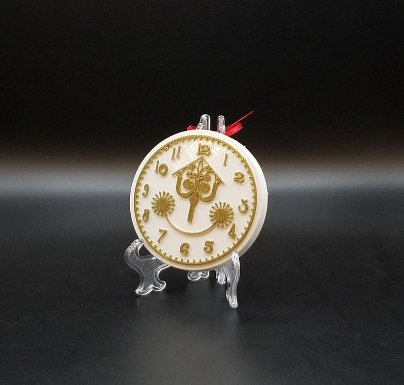 It's a Small World Clock Face Inspired Christmas Ornament image 0