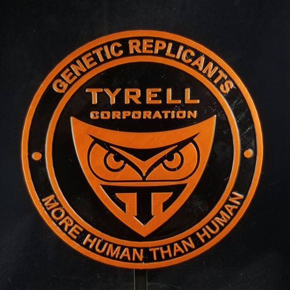 """Blade Runner Tyrell Genetic Replicants Logo 3/"""" Diameter Embroidered Patch"""