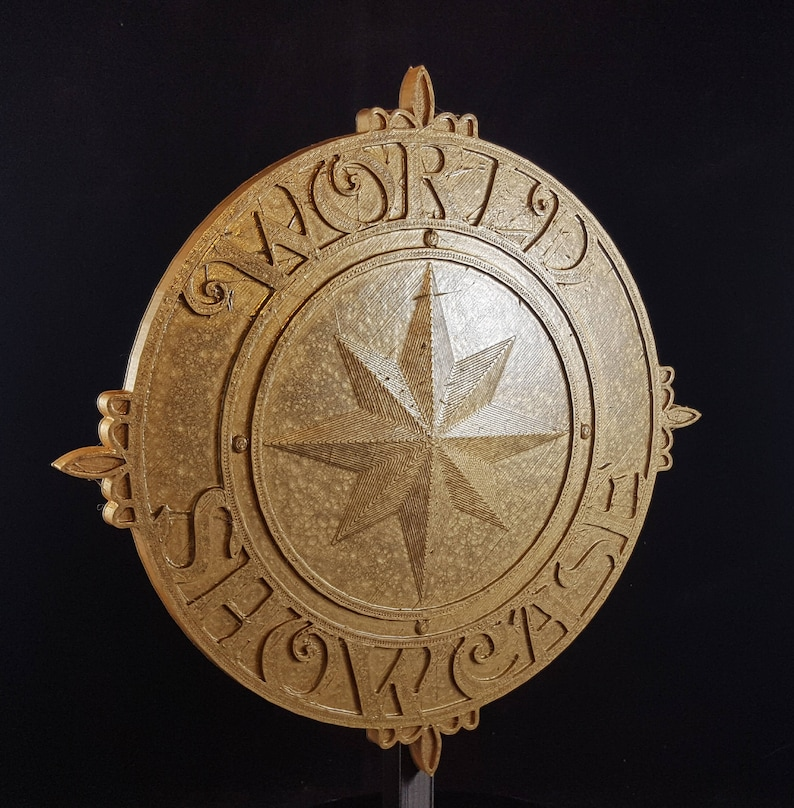 World Showcase Medallion Inspired Sign / Plaque Prop Replica  image 0