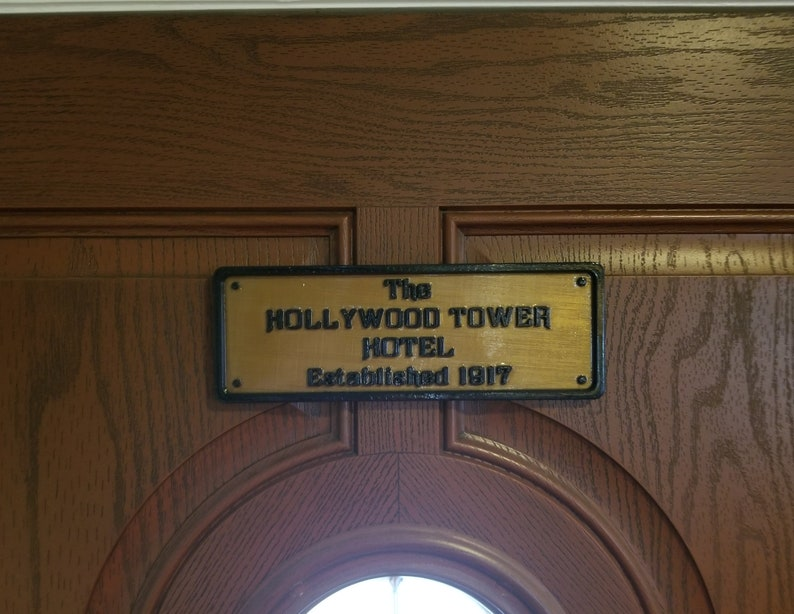 Hollywood Tower Hotel Inspired Replica Established Plaque / image 0