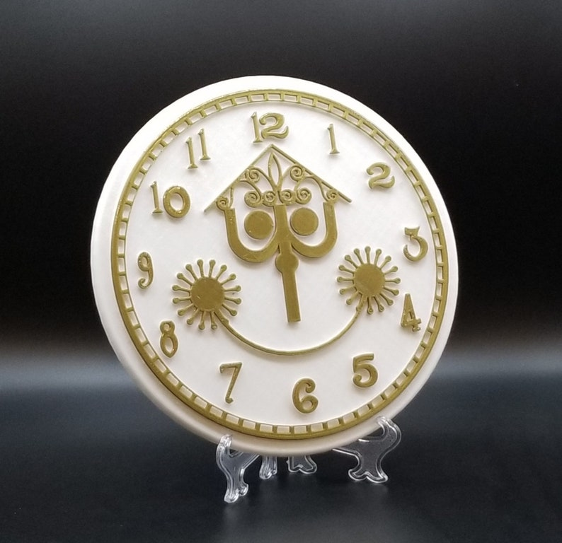 It's a Small World Clock Face Inspired Sign / Plaque image 0