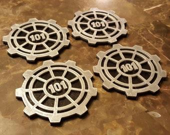 Vault Door Themed Coaster Set - 4 total (101)