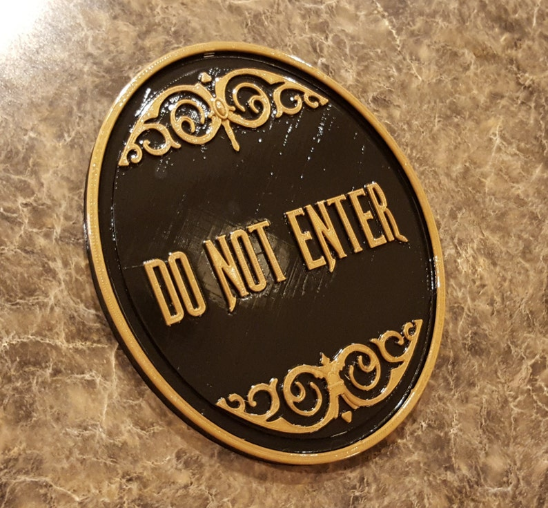 Haunted Mansion Attraction / Ride Do Not Enter Plaque / Sign image 0