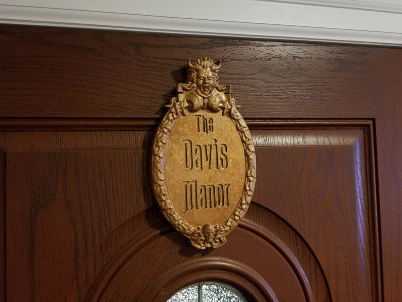 Personalized Haunted Mansion Inspired Prop Sign / Plaque image 0