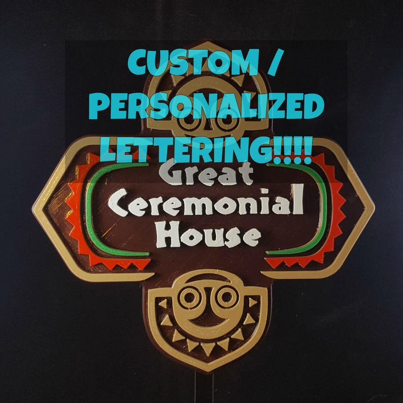 Personalized Polynesian Themed Sign / Plaque  Custom image 0
