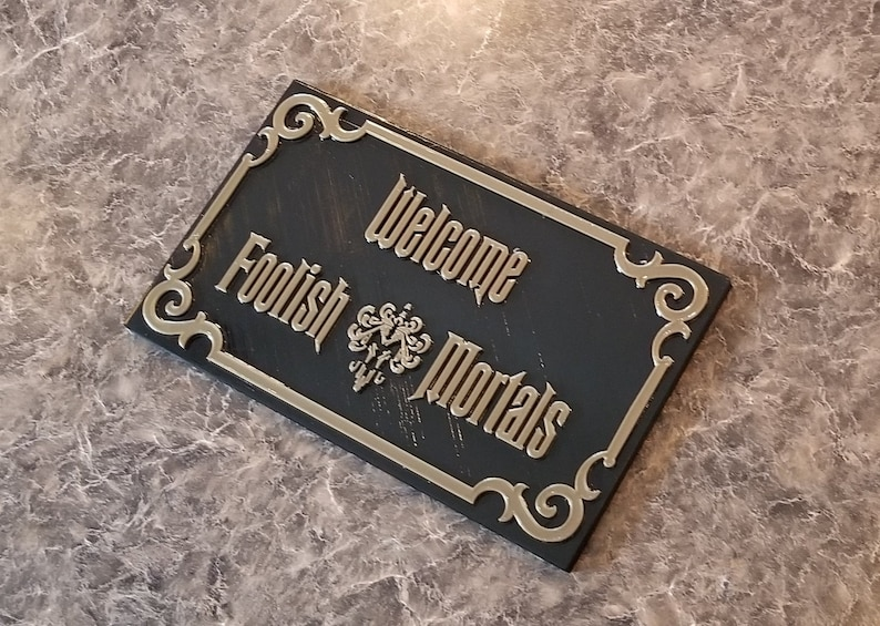 Haunted Mansion Inspired Prop Sign / Plaque Replica Welcome image 0
