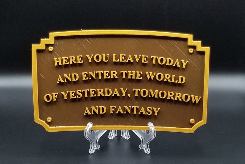 Main Street Entranceway Welcome Plaque DL Inspired Sign  Dual image 0