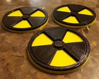 Nuclear Radioactive 3D Symbol Coaster - Set of 3