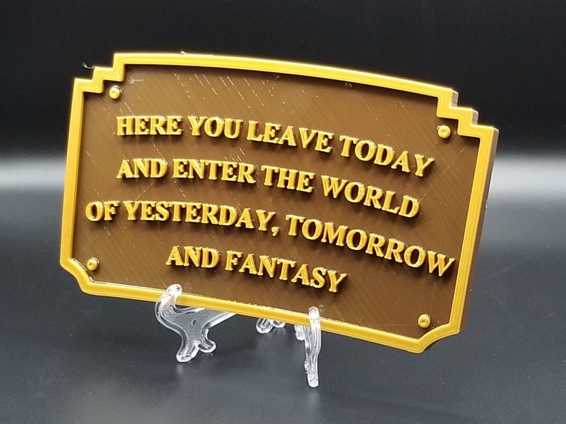 XL 10 Main Street Entranceway Welcome Plaque DL Inspired image 0