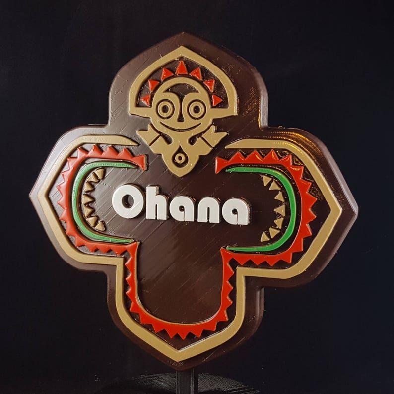 Polynesian Themed Longhouse Sign / Plaque  Ohana New image 0