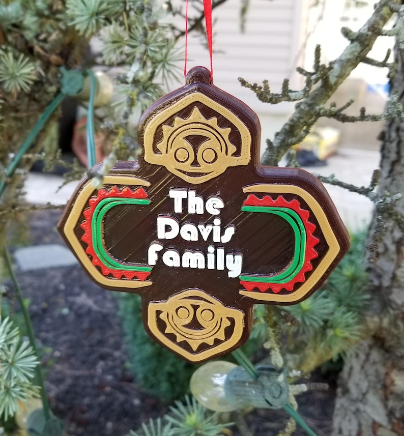 Personalized Polynesian Themed Family Last Name Christmas image 0