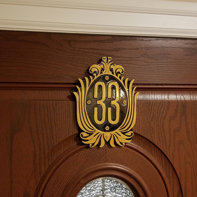 Club 33 Inspired Sign / Plaque Disney Prop Inspired Replica image 0
