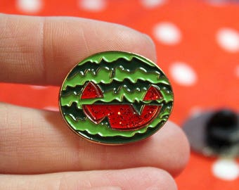 "Summerween Jack O' Melon - 1"" enamel pin"