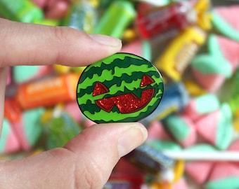 "Imperfect pin- Gravity Falls - Summerween Jack O' Melon - 1 1/4"" Enamel Pin"