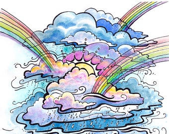 Print- Rainbows in the Storm