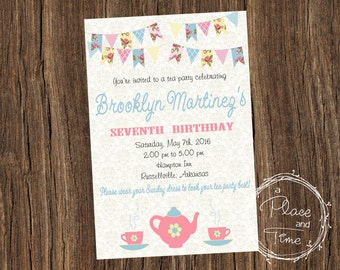 Printable Birthday Tea Party Invitation